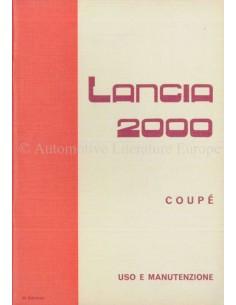 1973 LANCIA 2000 COUPE BETRIEBSANLEITUNG ITALIENISCH
