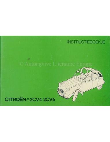 1977 CITROEN 2CV4 2CV6 OWNER'S MANUAL DUTCH