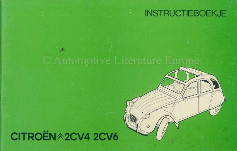 1977 Citroen 2cv4 2cv6 Owners Manual Dutch