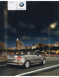 2008 BMW 1 SERIES CONVERTIBLE BROCHURE GERMAN