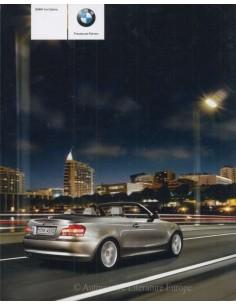 2008 BMW 1ER CABRIO PROSPEKT DEUTSCH