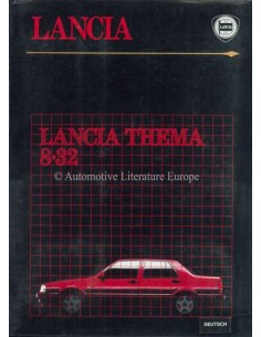 1986 LANCIA THEMA 8.32 PRESSKIT GERMAN