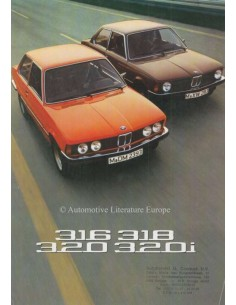 1975 BMW 3 SERIES BROCHURE DUTCH