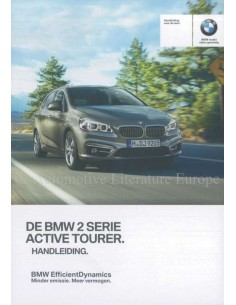 2016 BMW 2 SERIE ACTIVE TOURER F45 INSTRUCTIEBOEKJE NEDERLANDS