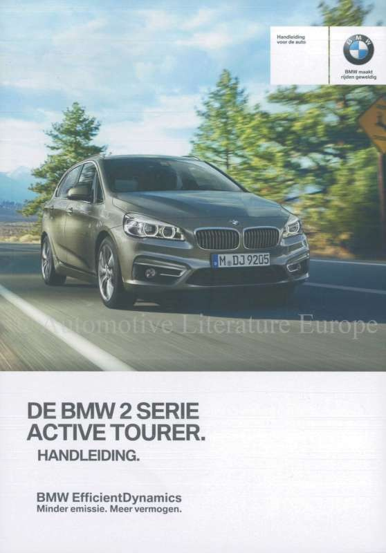 2016 Bmw 2 Series Active Tourer F45 Owners Manual Dutch