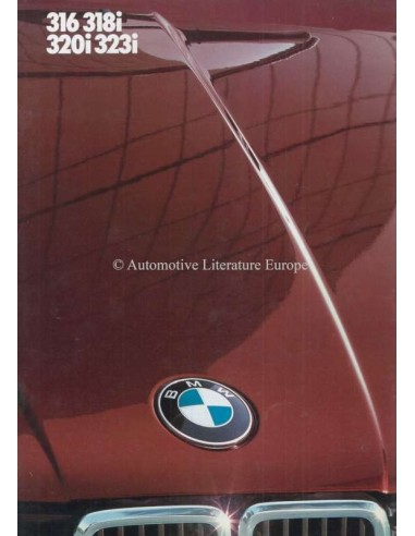 1982 BMW 3 SERIES BROCHURE DUTCH