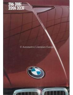 1984 BMW 3 SERIES LIMOUSINE BROCHURE DUTCH