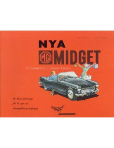 1961 MG MIDGET BROCHURE SWEDISH