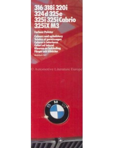 1987 BMW 3 SERIES COLOUR AND UPHOLSTERY BROCHURE