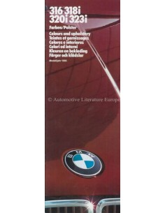 1985 BMW 3 SERIES COLOUR AND UPHOLSTERY BROCHURE