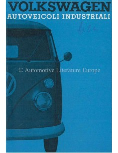 1965 VOLKSWAGEN T1 TRANSPOTER OWNERS MANUAL ITALIAN