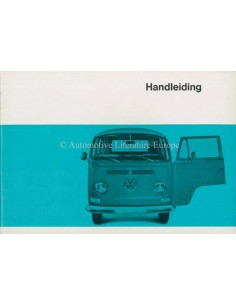 1969 VOLKSWAGEN TRANSPOTER T2 OWNER'S MANUAL DUTCH