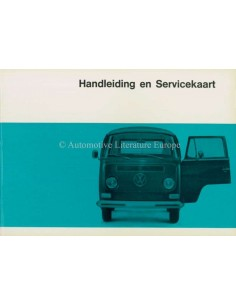 1967 VOLKSWAGEN TRANSPOTER T2 OWNERS MANUAL DUTCH