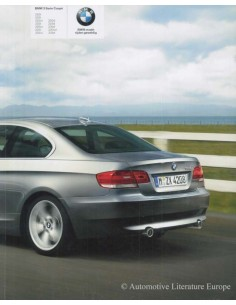 2008 BMW 3 SERIES COUPÉ BROCHURE DUTCH