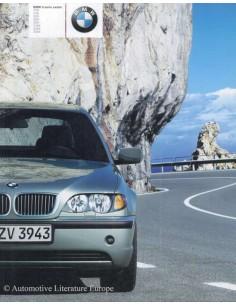 2001 BMW 3 SERIES LIMOUSINE BROCHURE DUTCH