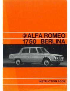 1971 ALFA ROMEO 1750 BERLINA BETRIEBSANLEITUNG ENGLISCH