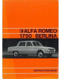 1971 ALFA ROMEO 1750 BERLINA OWNERS MANUAL ENGLISH