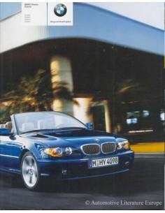 2003 BMW 3ER CABRIO PROSPEKT NIEDERLÄNDISCH