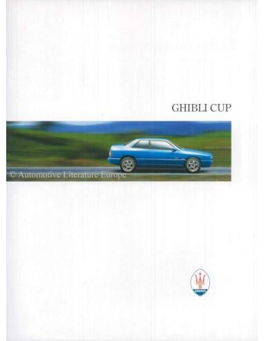 1996 MASERATI GHIBLI CUP BROCHURE ITALIAANS