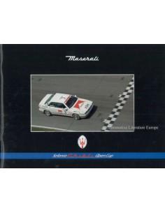 1995 MASERATI GHIBLI SELENIA OPEN CUP BROCHURE ITALIAN / ENGLISH