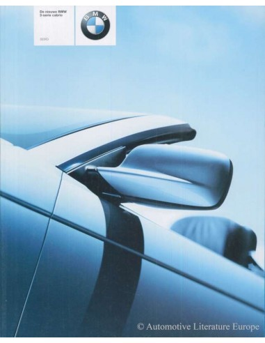 2000 BMW 3 SERIES CONVERTIBLE BROCHURE DUTCH