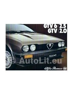 1980 ALFA ROMEO GTV BROCHURE ENGLISCH
