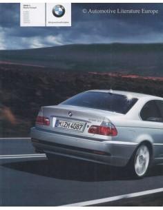 2004 BMW 3 SERIES COUPÉ BROCHURE DUTCH