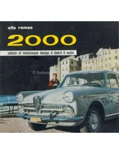 1959 ALFA ROMEO 2000 SALOON PROSPEKT ENGLISCH