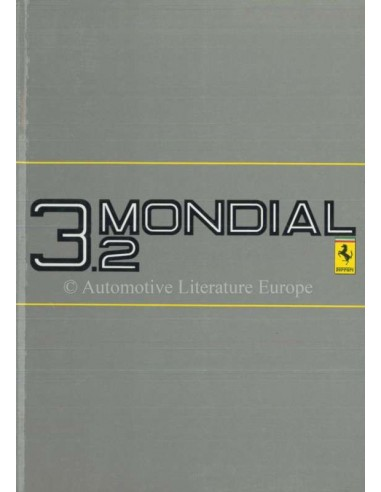 1985 FERRARI 3.2 MONDIAL OWNERS MANUAL 377/85
