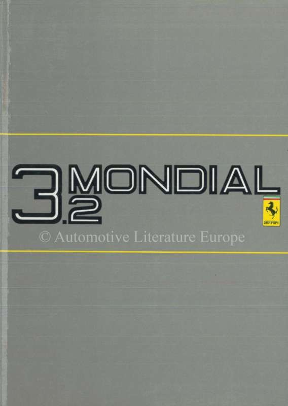 1985 ferrari 3 2 mondial owners manual 377 85. Black Bedroom Furniture Sets. Home Design Ideas