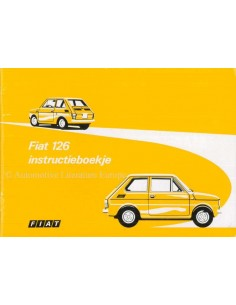 1973 FIAT 126 OWNERS MANUAL DUTCH