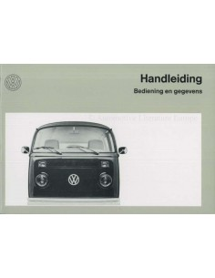1973 VOLKSWAGEN TRANSPOTER T2 OWNERS MANUAL DUTCH