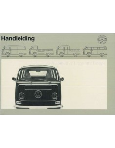 1972 VOLKSWAGEN TRANSPOTER T2 OWNERS MANUAL DUTCH