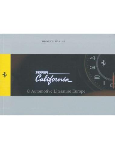 2011 FERRARI CALIFORNIA OWNERS MANUAL ENGLISH