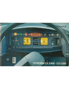 1974 CITROEN CX OWNERS MANUAL DUTCH