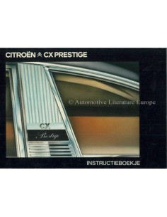 1979 CITROEN CX PRESTIGE INSTRUCTIEBOEKJE NEDERLANDS