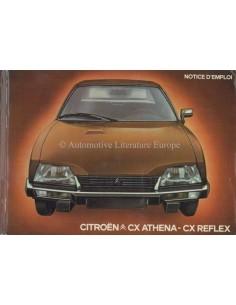 1980 CITROEN CX ATHENA REFLEX BETRIEBSANLEITUNG FRANZÖSISCH