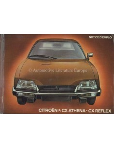 1980 CITROEN CX ATHENA REFLEX OWNERS MANUAL FRENCH
