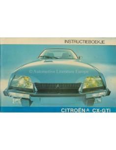 1977 CITROEN CX GTI BETRIEBSANLEITUNG NIEDERLÄNDISCH