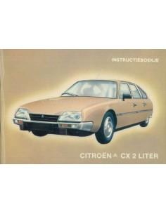 1981 CITROEN CX 2 LITER BETRIEBSANLEITUNG NIEDERLÄNDISCH