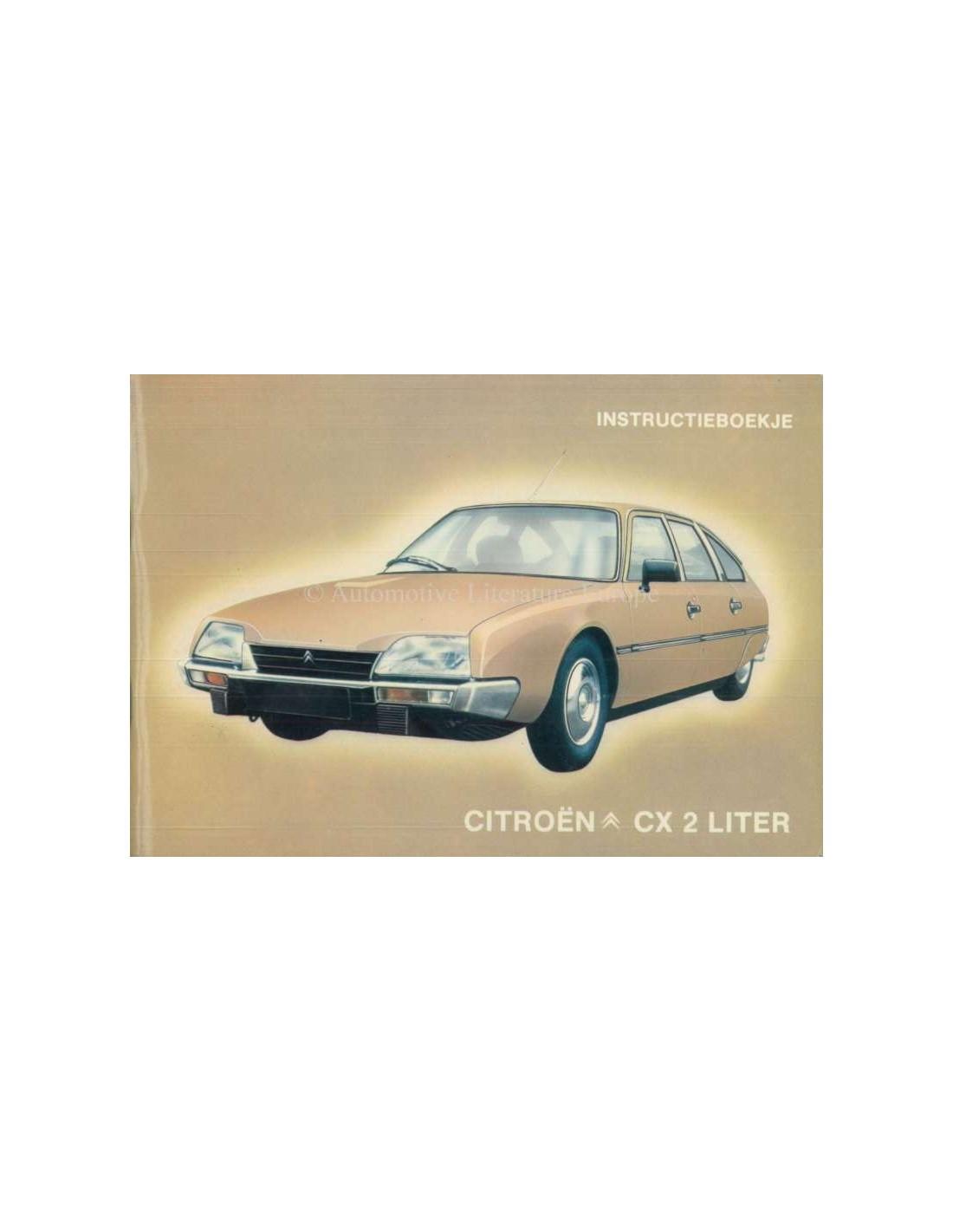 1981 citroen cx 2 litre owners manual dutch rh autolit eu Citroen BX citroen cx owners manual pdf