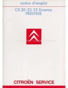 1985 citroen cx essence prestige owners manual frans rh autolit eu Citroen XM Citroen SM