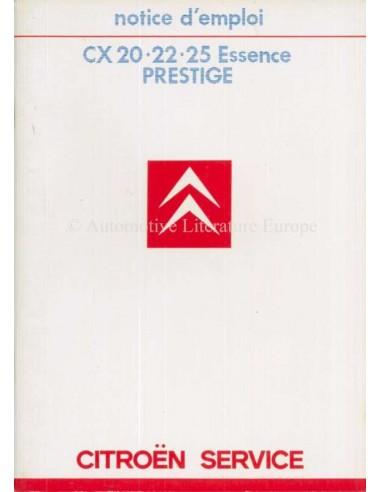 1985 CITROEN CX ESSENCE PRESTIGE OWNERS MANUAL FRANS