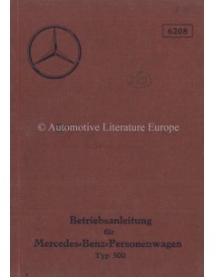 1934 MERCEDES BENZ TYPE 500 OWNERS MANUAL GERMAN