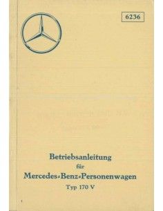 1936 MERCEDES BENZ 170 V OWNERS MANUAL GERMAN