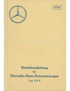 1936 MERCEDES BENZ TYP 170 V BETRIEBSANLEITUNG DEUTSCH