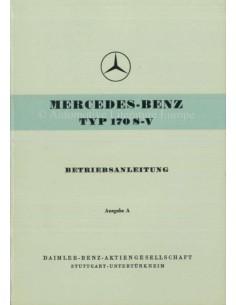1953 MERCEDES BENZ TYP 170 S-V BETRIEBSANLEITUNG DEUTSCH