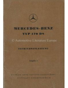 1952 MERCEDES BENZ TYPE 170 DS INSTRUCTIEBOEKJE DUITS
