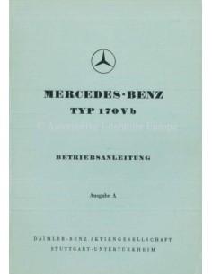 1952 MERCEDES BENZ TYPE 170 V B INSTRUCTIEBOEKJE DUITS