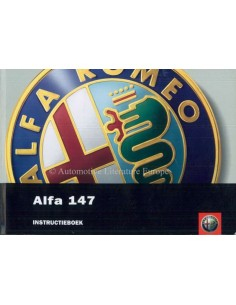 2003 ALFA ROMEO 147 OWNERS MANUAL DUTCH